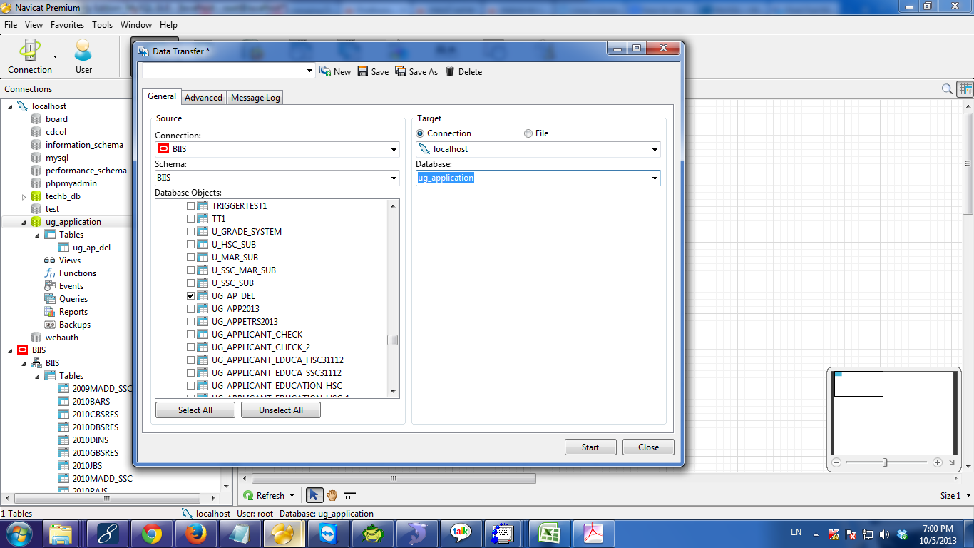 Data Transfer from Oracle to Mysql with BLOB file using